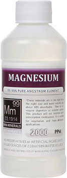 Magnesium comes in 8, 16 and 128 ounces.