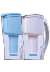 WATER FILTER PITCHER LARGE 10 CUP (CLEAR OR BLUE)