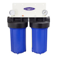 "CQ  CITY OR WELL WATER - COMPACT INLINE HOME/OFFICE WATER FILTRATION 10"" X 5"" 80K GALLONS"