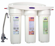 ALKALIZE & IONIZE, UNDER SINK 13 STAGE with FLUORIDE & LEAD Filtering WATER FILTER SYSTEM, WITH FAUCET KIT - CrystalQuest  CITY WATER TRIPLE COMPACT UNDERSINK WATER FILTER WITH FAUCET KIT - CrystalQuest