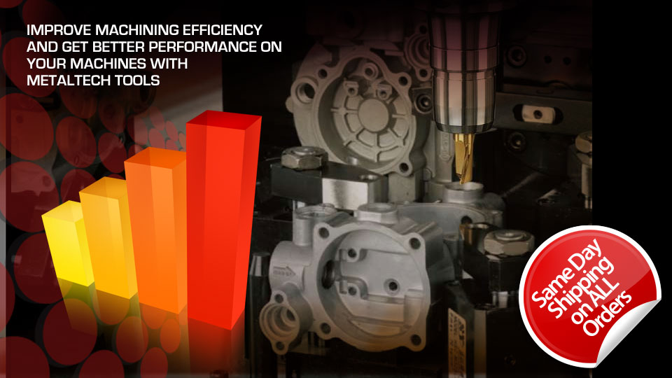 Improve machining efficiency with Metaltech Tools