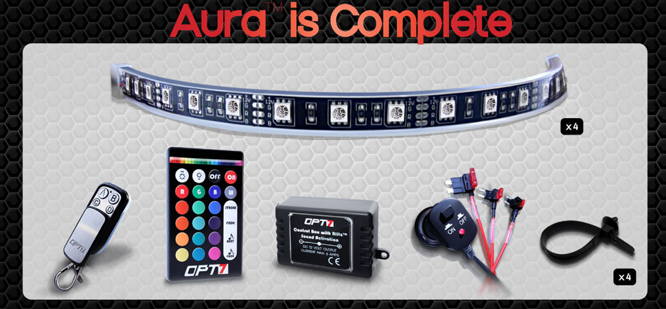 aura grille lighting kit complete