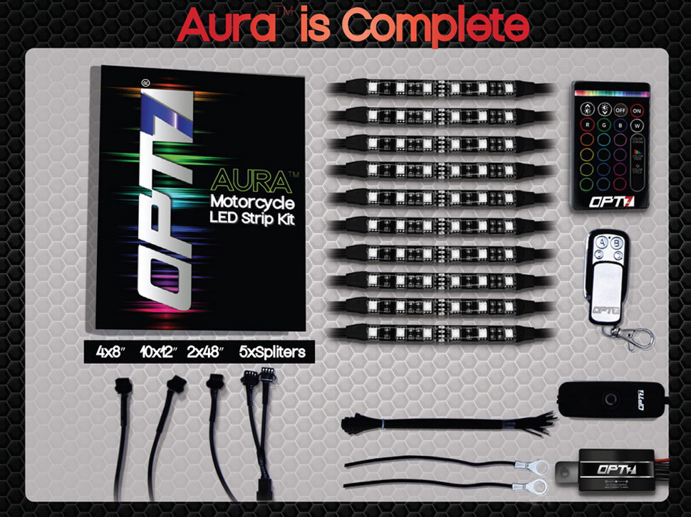 aura motorcycle glow kit includes