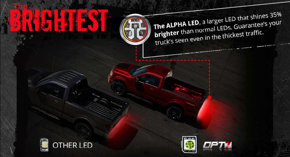 Redline led tailgate brake light bar with reverse opt7 bright led tailgate light bar aloadofball Gallery