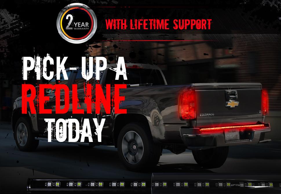 Redline led tailgate brake light bar with reverse opt7 truck tailgate led light bar aloadofball Gallery