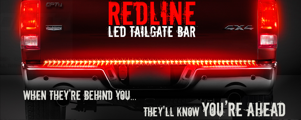 Redline led tailgate brake light bar with reverse opt7 redline tailgate light bar aloadofball Gallery