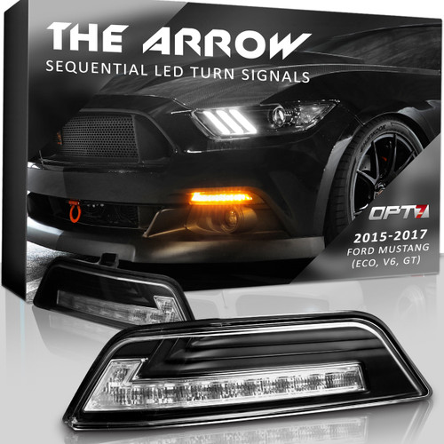 2015-2017 Mustang LED Arrow Turn Signals with Switchback + Sequential