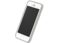 Flat Bumper Silver & White for iPhone 5
