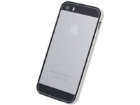 Flat Bumper Silver & Black for iPhone 5s/5