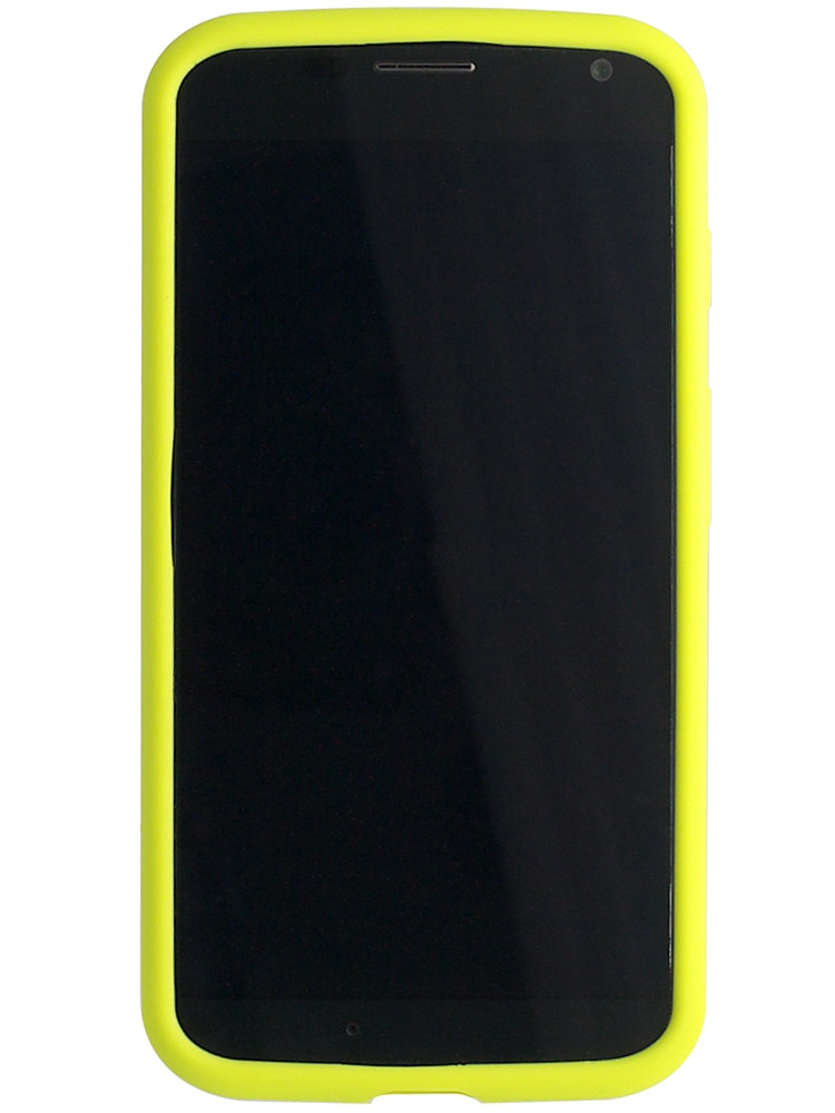 Grip for Moto X, front, yellow