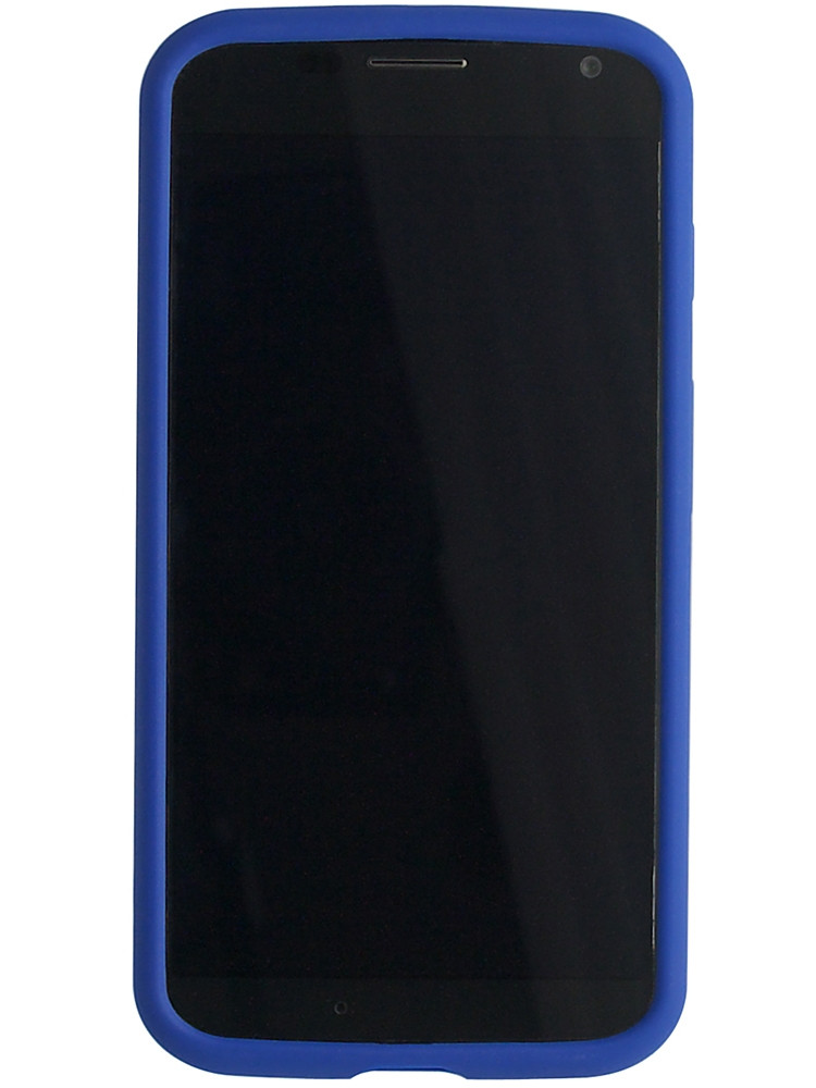 Grip for Moto X, front, blue