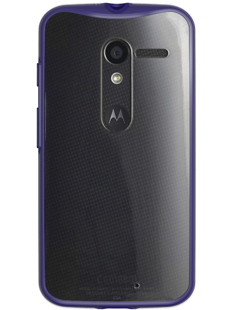 Grip for Moto X, back, purple