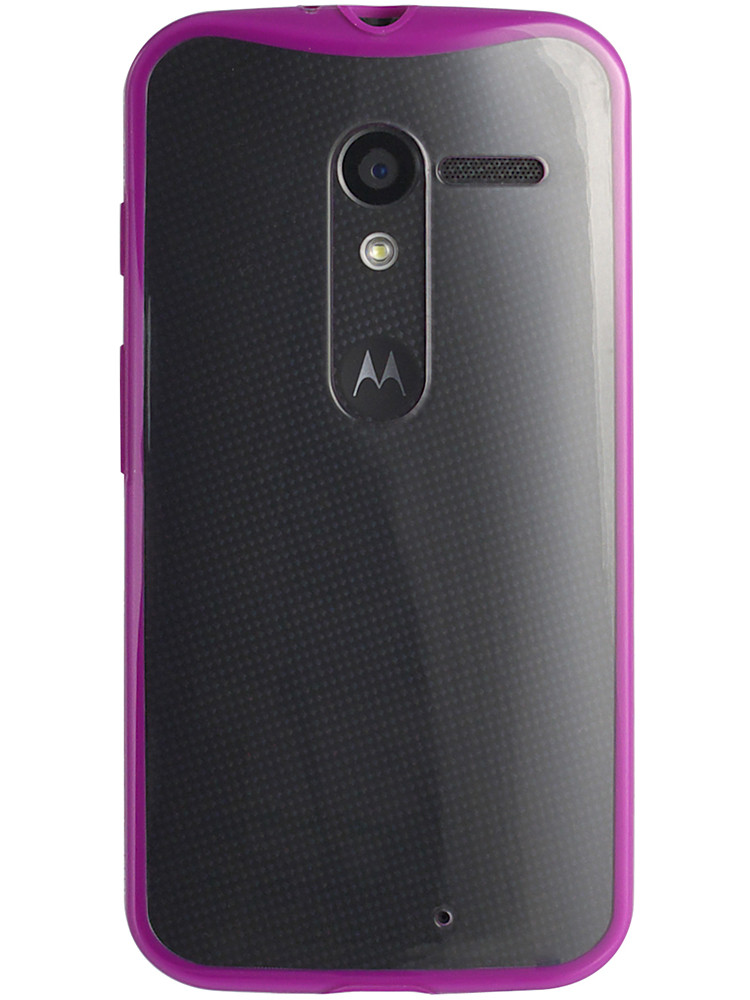 Grip for Moto X, back, violet