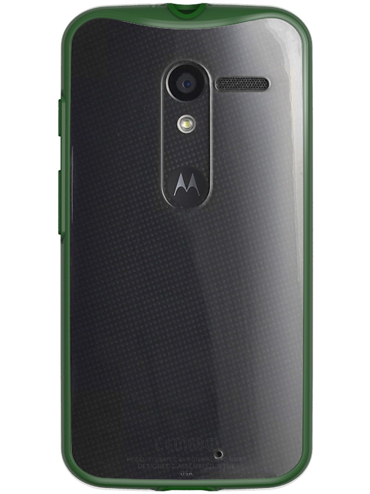Grip for Moto X, back, hunter green
