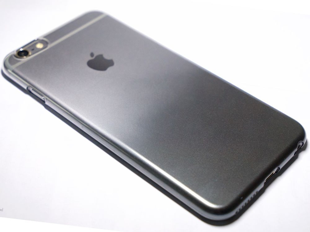 Air Jacket for iPhone 6s Plus/6 Plus Gradation Dark Gray back