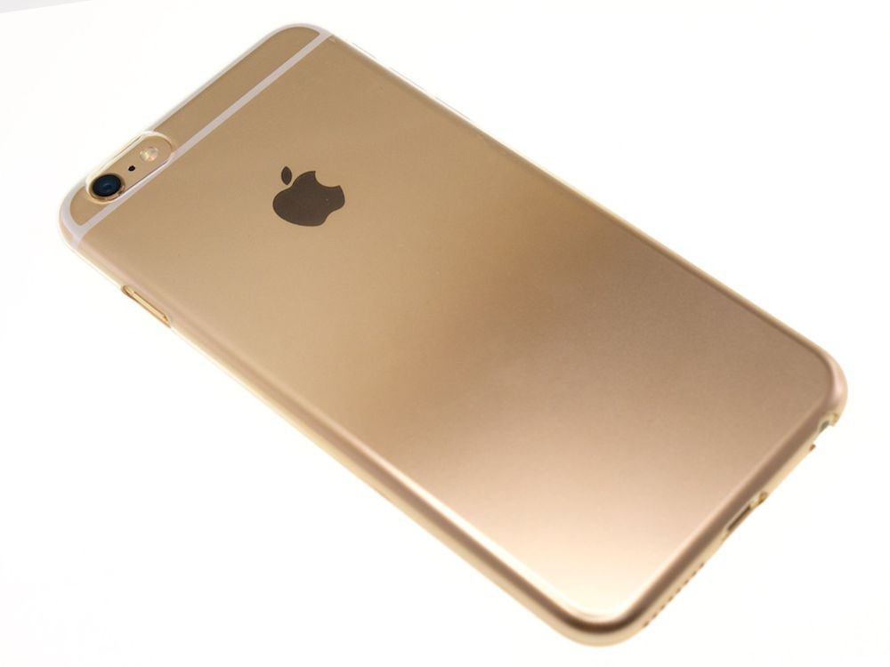 Air Jacket for iPhone 6s Plus/6 Plus Gradation Gold back