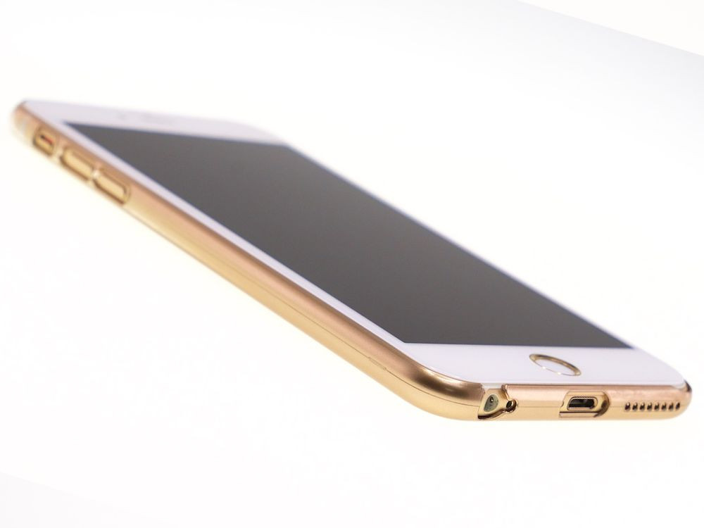 Air Jacket for iPhone 6s Plus/6 Plus Gradation Gold front side