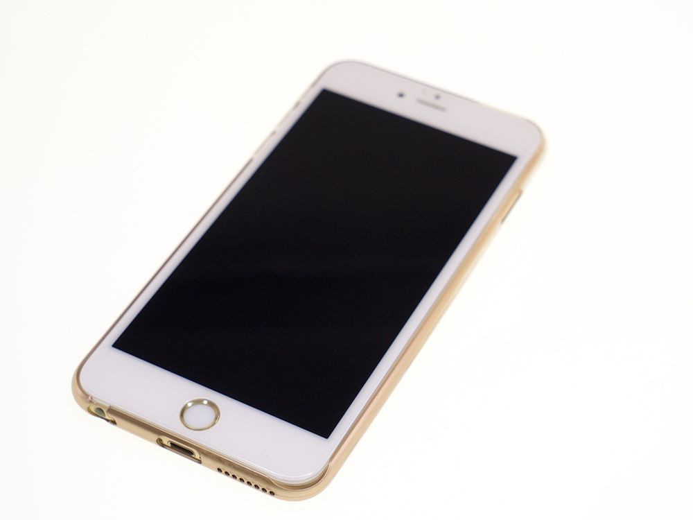 Air Jacket for iPhone 6s Plus/6 Plus Gradation Gold front