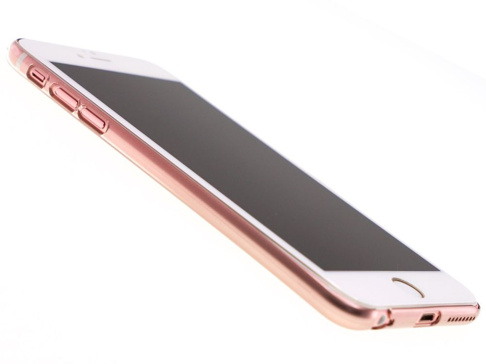 Air Jacket for iPhone 6s/6 Gradation Rose Gold front side