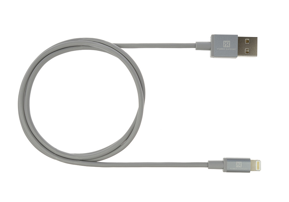Gray USB Lightening Cable 1m