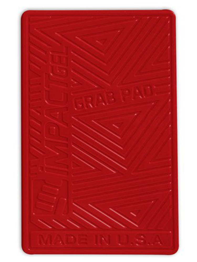 Impact Gel Grab Pad mobile iPhone holder Red