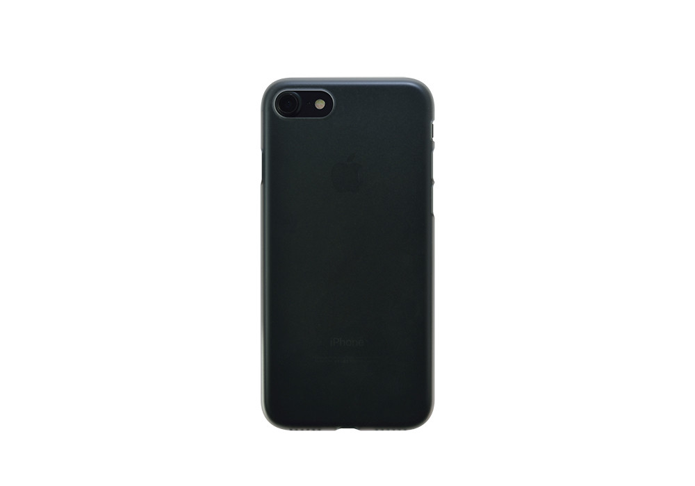 Air Jacket for iPhone 7 Clear Matte back on black iPhone 7