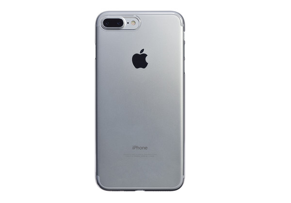 Air Jacket for iPhone 7 Plus Clear on a silver iPhone 7