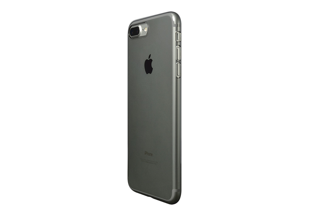 Air Jacket for iPhone 7 Plus Clear Black on silver iPhone 7 Plus