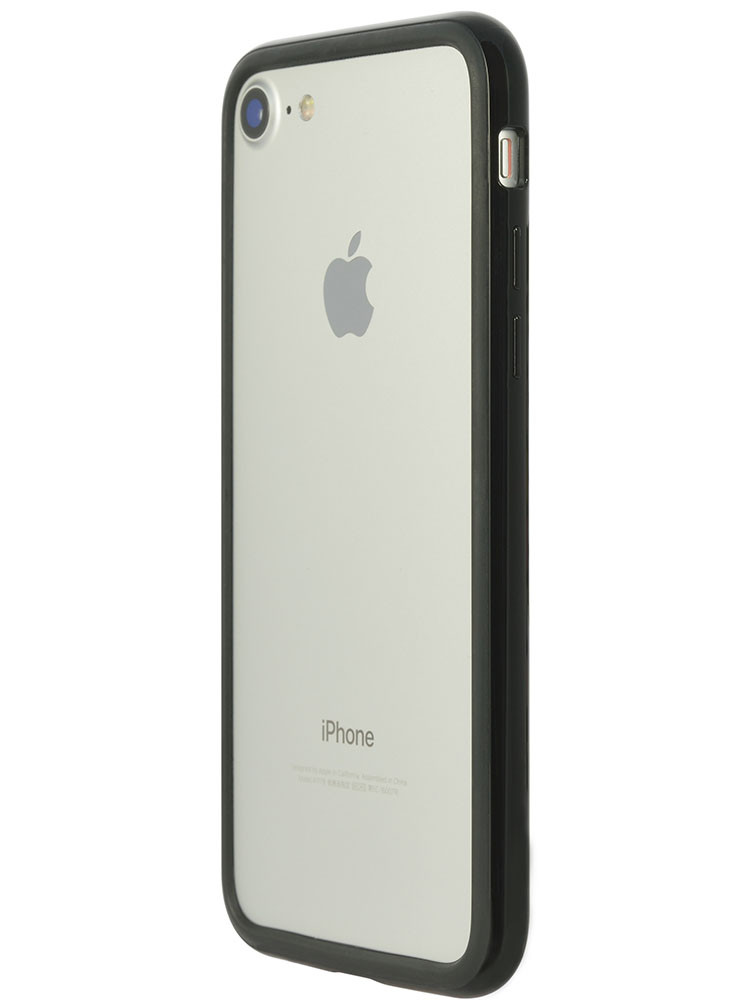 Arc bumper for iPhone 7 Piano Black on silver iPhone side