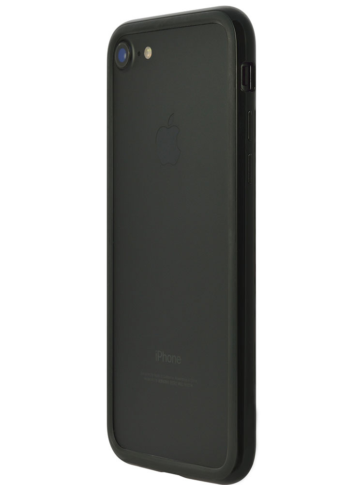 Arc bumper for iPhone 7 Piano Black on black iPhone side