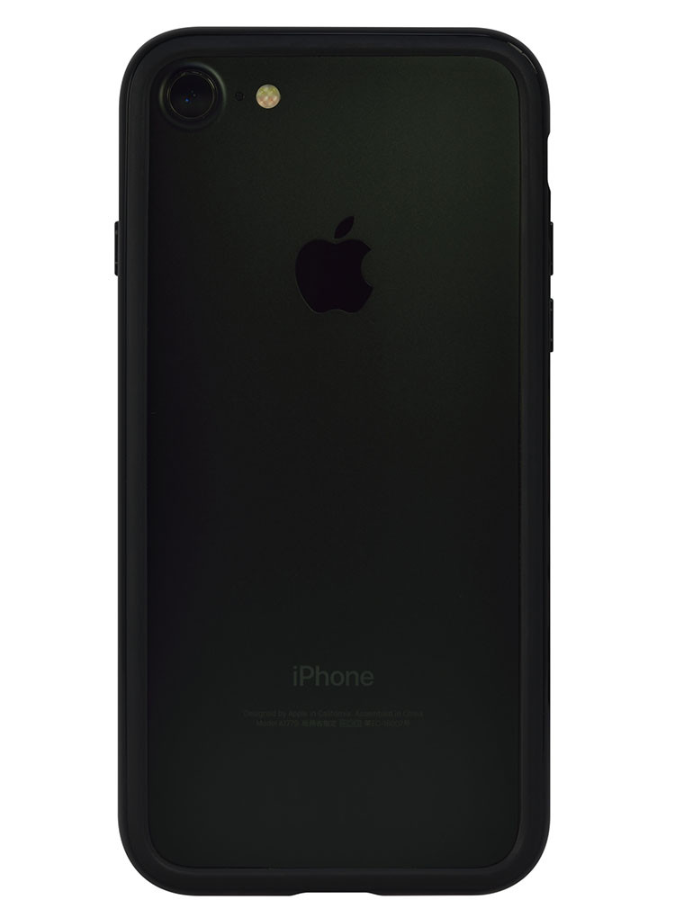 Arc bumper for iPhone 7 Piano Black on black iPhone back