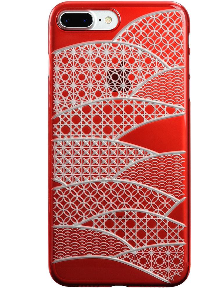 Air Jacket KIRIKO for iPhone 7 Plus Folding Fan Red