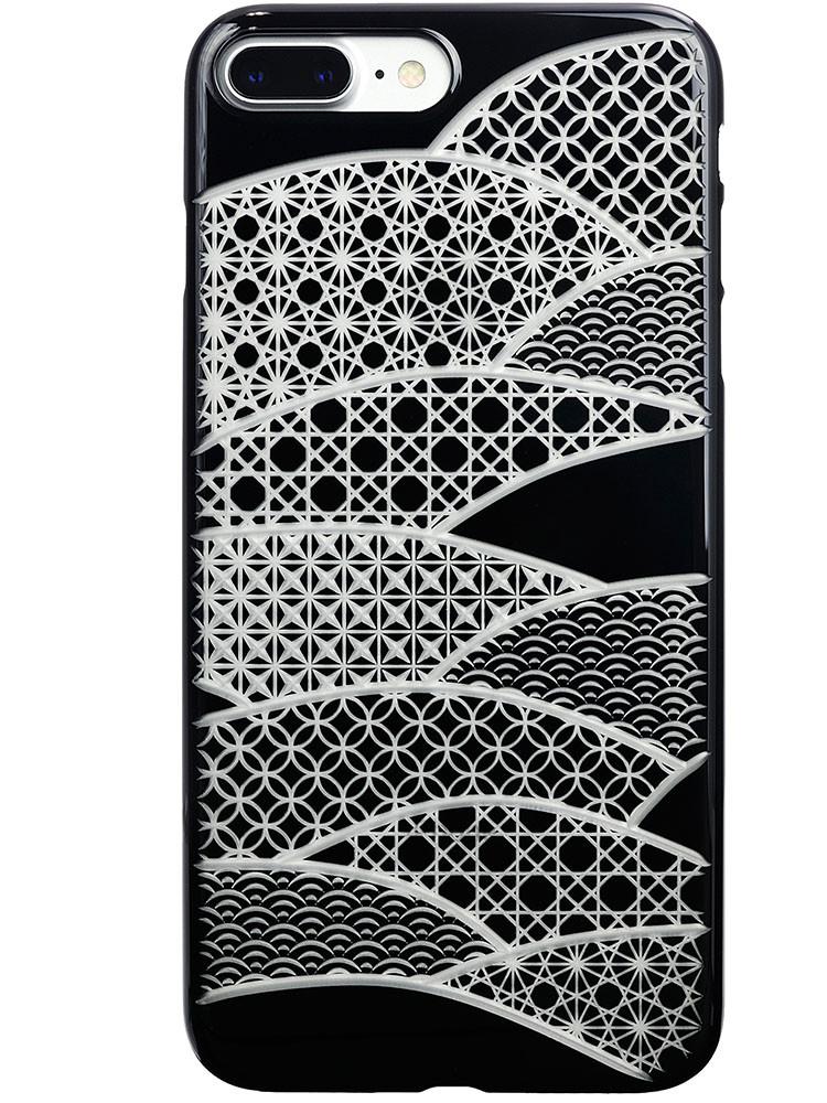 Air Jacket KIRIKO for iPhone 7 Plus Folding Fan Jet Black
