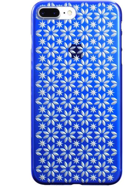 Air Jacket KIRIKO for iPhone 7 Plus Pinwheel & Star Blue