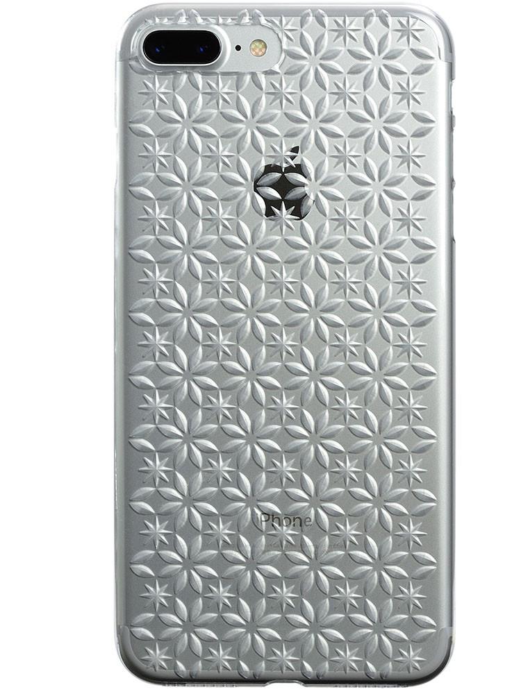 Air Jacket KIRIKO for iPhone 7 Plus Pinwheel & Star Clear