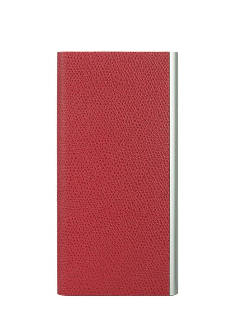 Flip Jacket for iPhone 7 Embossed Leather Front Red