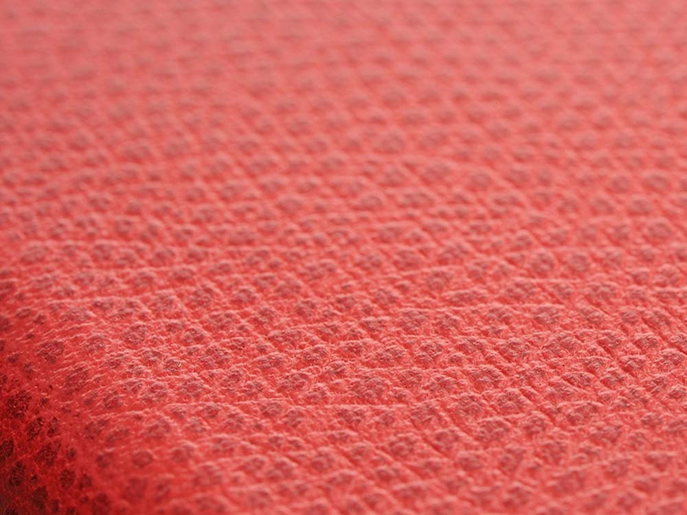 Flip Jacket for iPhone 7 Plus Embossed Leather Texture Red