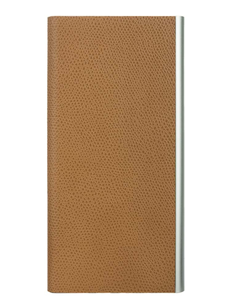 Flip Jacket for iPhone 7 Plus Embossed Leather Front Camel
