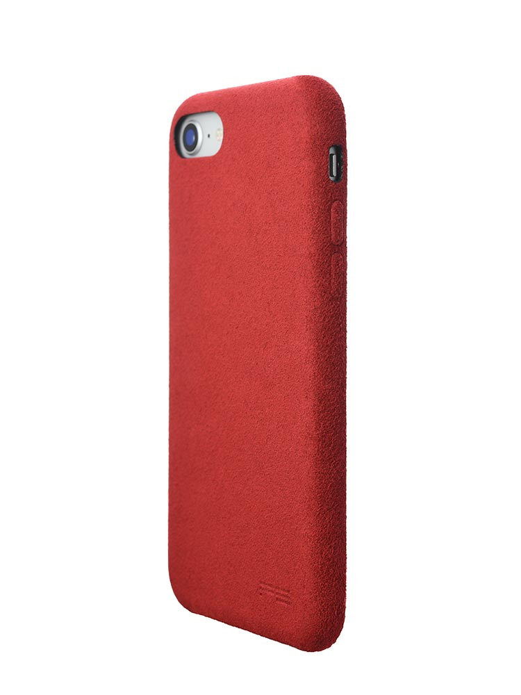 Ultrasuede Air Jacket for iPhone 8 Back Side Red