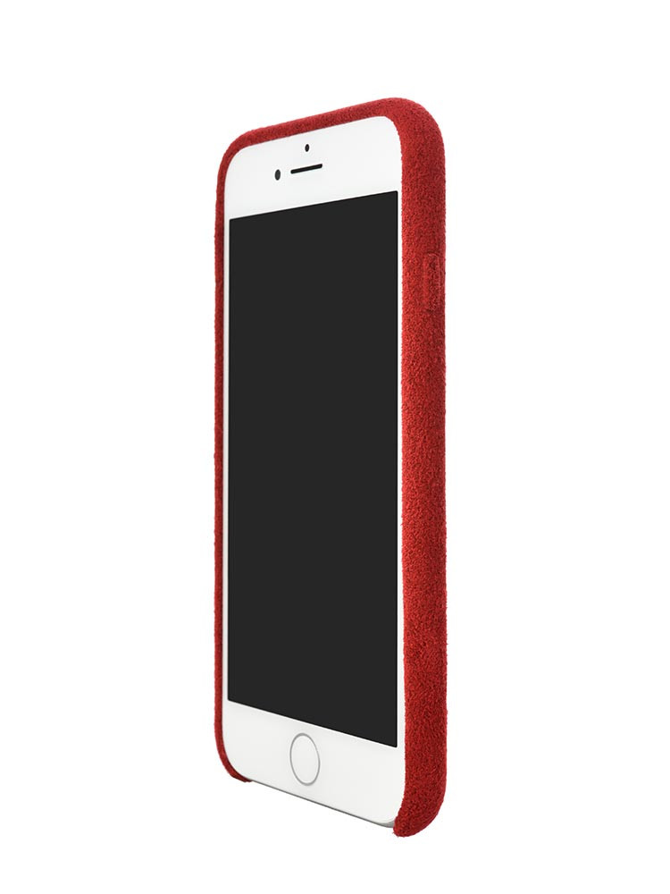 Ultrasuede Air Jacket for iPhone 8 Front Side Red