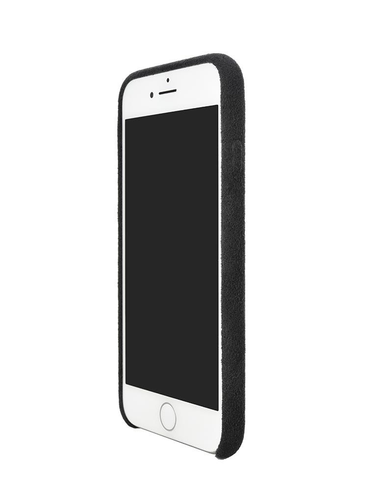 Ultrasuede Air Jacket for iPhone 8 Front Side Asphalt
