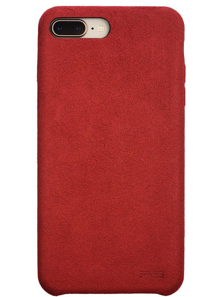 Ultrasuede Air Jacket for iPhone 8 Plus Back Red