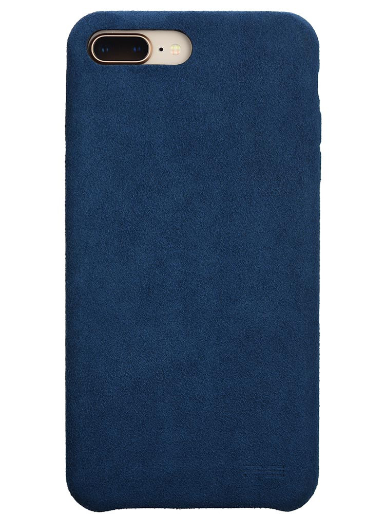 Ultrasuede Air Jacket for iPhone 8 Plus Back Blue