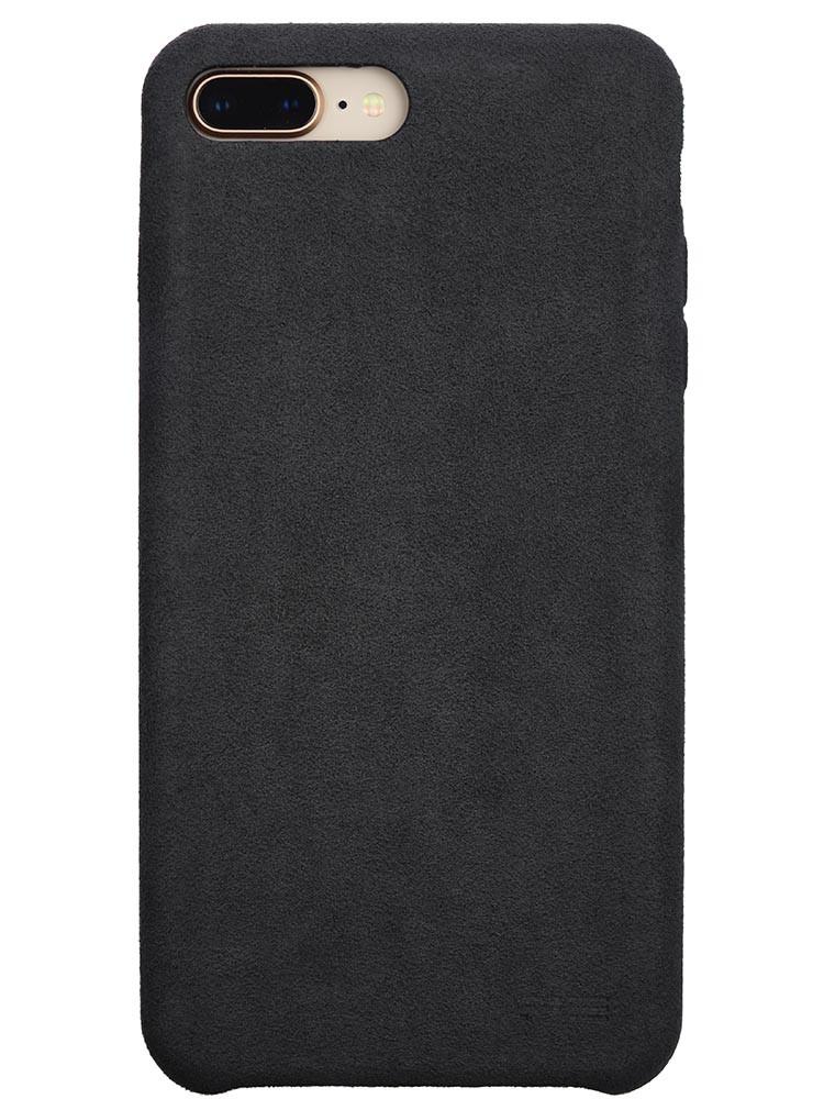 Ultrasuede Air Jacket for iPhone 8 Plus Back Asphalt