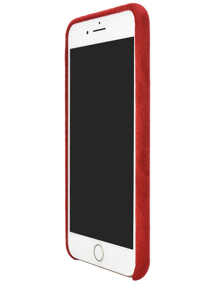 Ultrasuede Air Jacket for iPhone 8 Plus Front Side Red