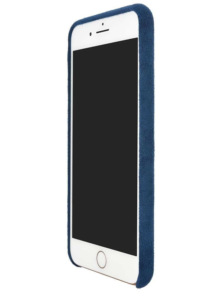 Ultrasuede Air Jacket for iPhone 8 Plus Front Side Blue