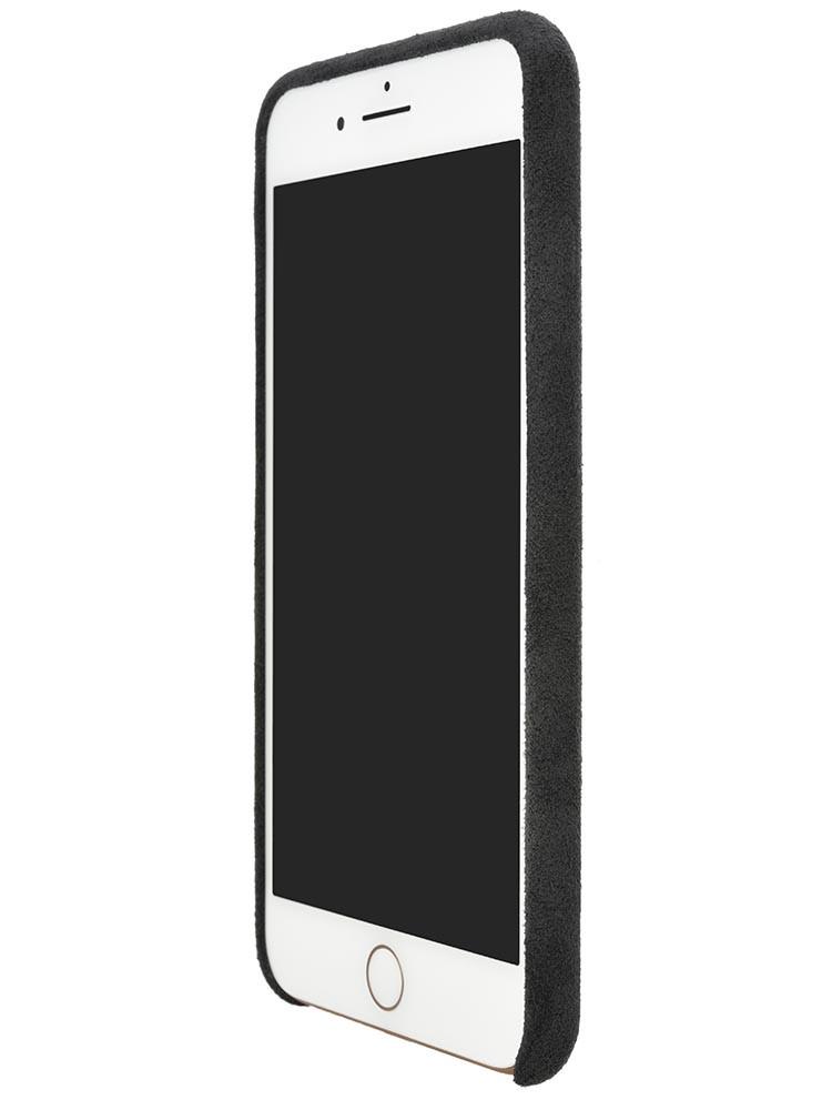Ultrasuede Air Jacket for iPhone 8 Plus Front Side Asphalt