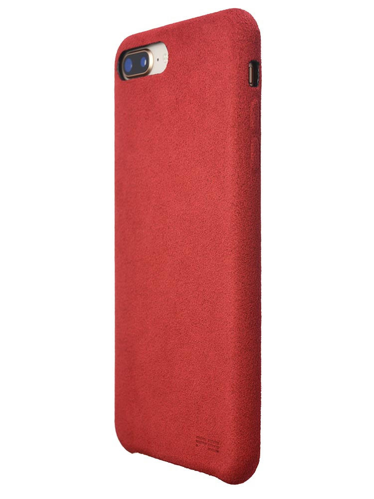 Ultrasuede Air Jacket for iPhone 8 Plus Back Side Red