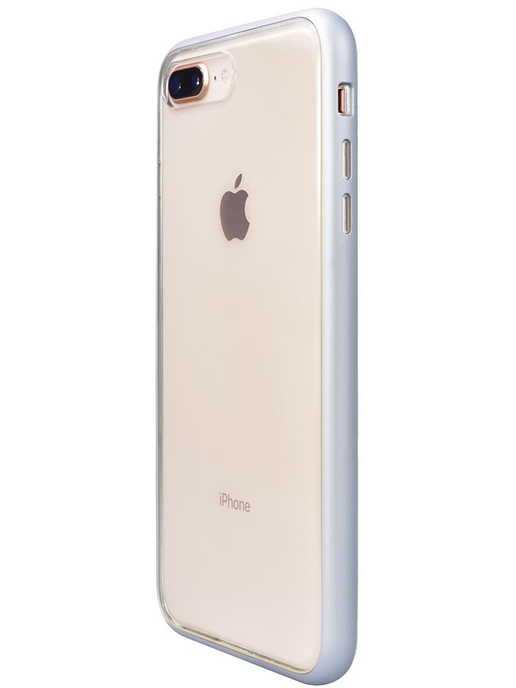 Shock Proof Air jacket for iPhone 8 Plus Side Rubber Silver