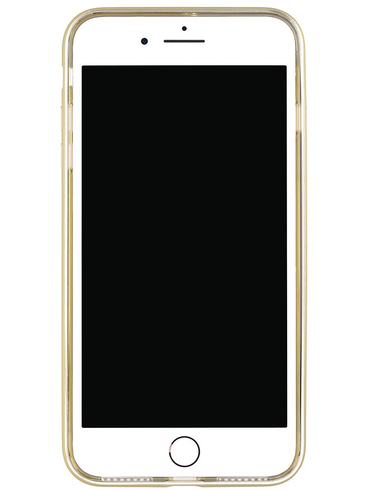 Shock Proof Air jacket for iPhone 8 Plus Front Rubber Gold
